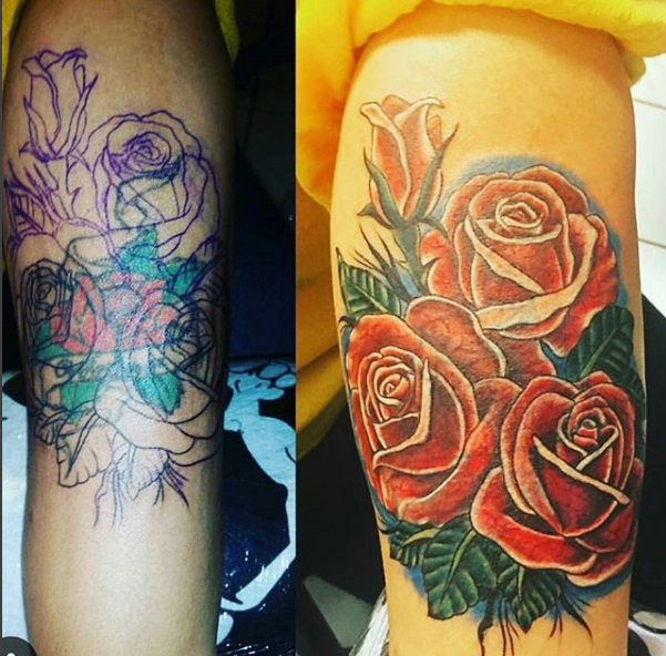 Colored Rose Cover up